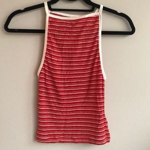 Urban Outfitters Red Spaghetti Strap Stretch Top